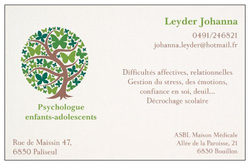Carte De Visite 2 Johanna LEYDER Psychologue